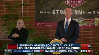 Funding headed to Central Valley