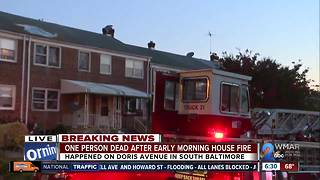 Body discovered in South Baltimore house fire