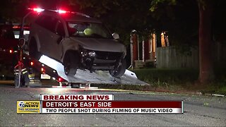 Two people shot during filming of music video