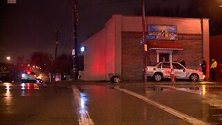 Vehicle crashes into building on West 65th Street
