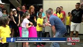 Orphans arrive in Omaha - Video