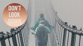 We took a GoPro across the longest suspension bridge - Video