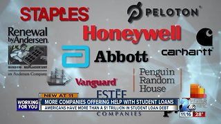 More companies helping employees handle stress of student loan debt