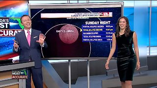 Total lunar eclipse Sunday night