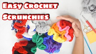 How to Crochet Scrunchies