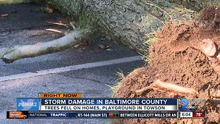 Severe storms rip through Towson - Video
