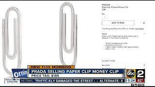 Prada selling paper clip-shaped money clip