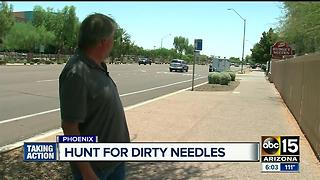Opioid crisis: Needles litter Phoenix neighborhood - Video