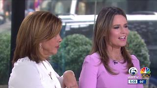 Behind the scenes at the TODAY Show: Ashleigh Walters interviews Hoda Kotb and Savannah Guthrie - Video