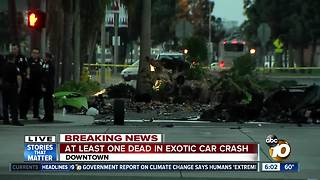 One dead, one hospitalized in downtown crash - Video