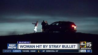 Woman struck by stray bullet in Buckeye desert - Video