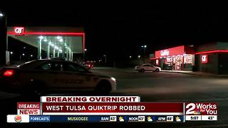 West Tulsa Quiktrip robbed near Southwest Boulevard - Video
