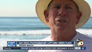 San Diego photographer captures green flash - Video