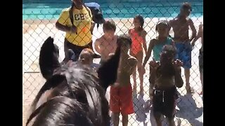 Atlanta Kids Serenade Police Horses With Rendition of 'Old Town Road'