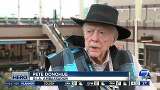 7Everyday Hero Pete Donohue helps passengers at Denver International Airport - Video