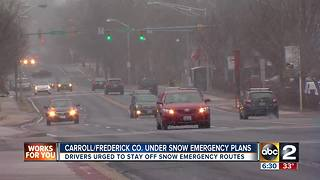 Carroll, Frederick Counties activate Snow Emergency Plans - Video
