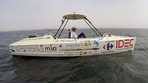 Sailor completes solo crossing of Atlantic on a pedal boat eating only out of date food
