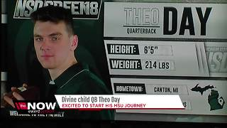 Divine Child quarterback Theo Day at MSU - Video
