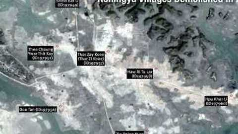 HRW Says Satellite Images Show Rohingya Villages 'Bulldozed' by Myanmar Authorities