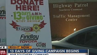 13 Days of Giving is now underway in Las Vegas