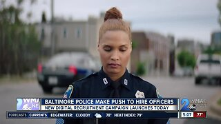Baltimore Police make push to hire officers