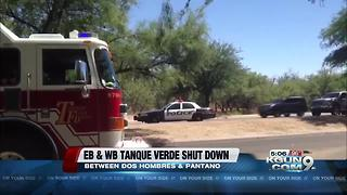 Tucson Police working a motorcycle collision, one man dead - Video