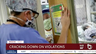 San Diego County cracking down on COVID-19 violations