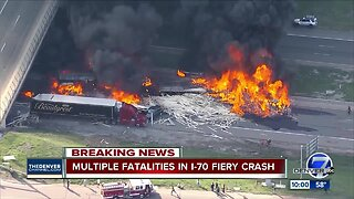 Multiple fatalities, 10 injured following fiery crash involving 11 cars, 4 semis on I-70