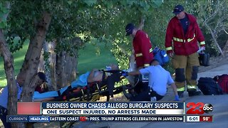 Business owner chases alleged burglary suspects