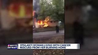 Metro Detroit woman living with cancer rescued from her burning home - Video