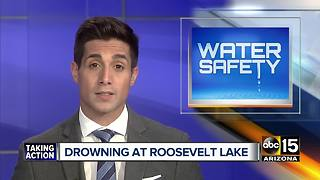 Body recovered at Roosevelt Lake after drowning - Video