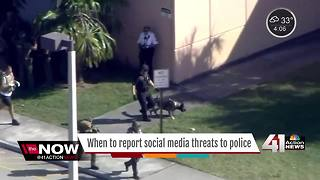 When to report social media threats to police - Video