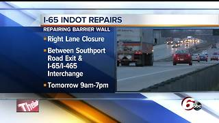 INDOT closing part of I-65 for emergency slope repair Thursday - Video