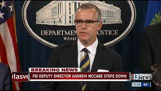 FBI Deputy director Andrew McCabe steps down - Video