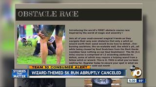 Wizard-themed 5K run abruptly canceled - Video