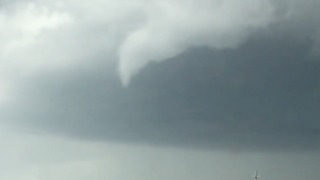 Small Funnel Cloud Forms Over Highway in Jasper, Alabama - Video