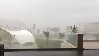 Hurricane Maria Brings Strong Winds and Heavy Rain to St Lucia - Video