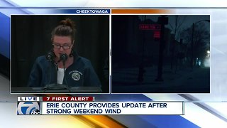Storm Update: Erie County leaders give update on wind storm