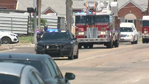 Stroud firefighter who died after car wreck honored with procession