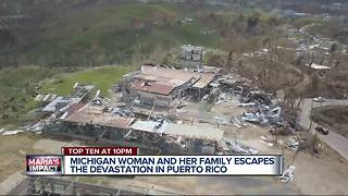 Michigan woman and family escapes devastation in Puerto Rico - Video