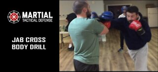 Cross jab sparring drill