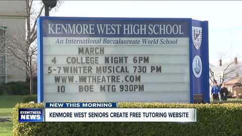 Kenmore West seniors create free tutoring and resource website