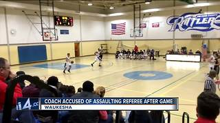 College Coach Punches Official - Video