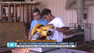 Pinellas Co. opening new school to get kids into high-demand jobs - Video