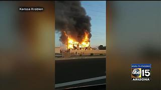 Office structure goes up in flames in Chandler - Video