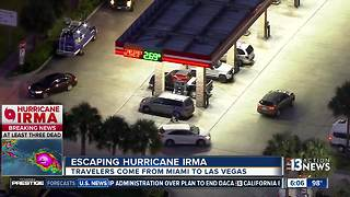 Travelers escaping Hurricane Irma's path heading to Las Vegas - Video