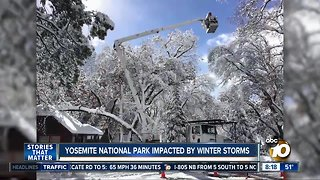 Yosemite national park impacted by winter storms - Video