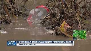Storm could bring sewage runoff from Tijuana River