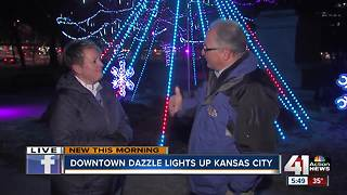 Dazzling lights, holiday activities in downtown Kansas City - Video