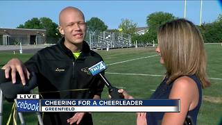 Greenfield and Greendale fans come together for student with cancer - Video